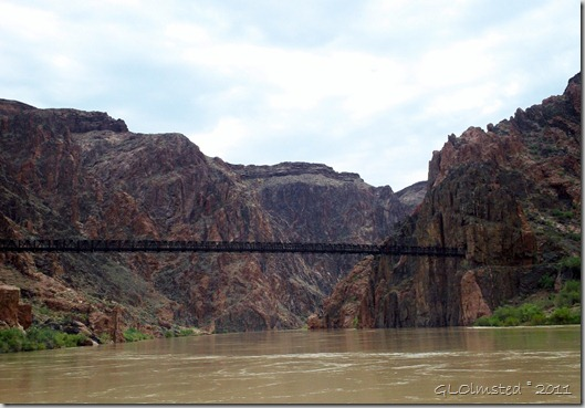 03 Looking up river at Kaibab Suspension Bridge ~RM88 Colorado River trip GRCA NP AZ (1024x711)