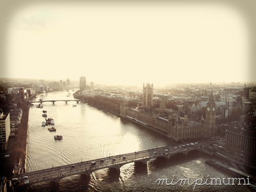 Westminster from the London Eye.
