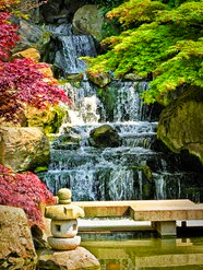 Kyoto Garden Waterfall