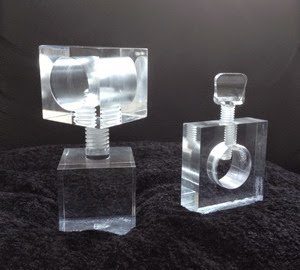 2 Lucite nut crackers
