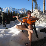 hugo on his guitar in Seefeld, Tirol, Austria