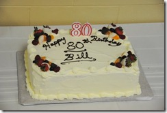Bill's 80 th Birthday cake made by Robt Peters