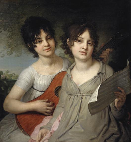 Портрет сестер княжон Анны Гавриловны и Варвары Гавриловны Гагариных