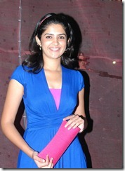 deeksha in blue dress