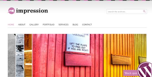 Impression  Premium Wordpress Theme - Business Corporate