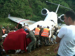 Crash de l'avion à Bukavu le 12/02/2012, Ph. Internet/Jack Musavuli