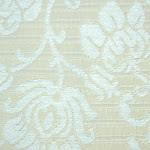 Tkanina meblowa, wzór roślinny, kwiatowy. Biała.
