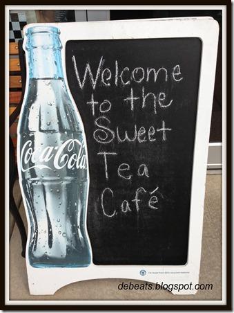 sweet tea cafe banner framed