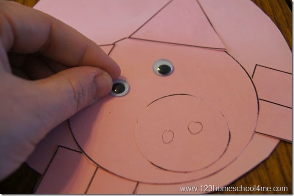 super cute pig craft for preschool and toddler