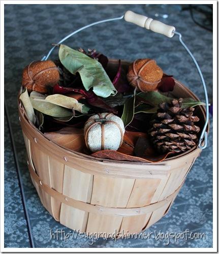 Bushel Basket Centrepiece