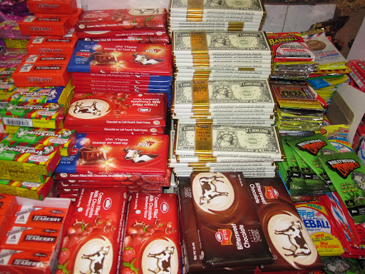 There was also a large selection of chocolate too.