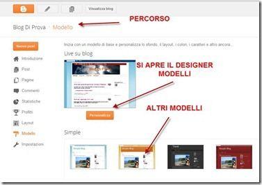 modelli blogger designer personalizza