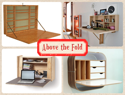 tiny ass apartment above the fold 10 wall mounted folding desks. Black Bedroom Furniture Sets. Home Design Ideas