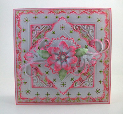 Prima Donna Petals Birthday Card