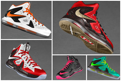 nike lebron 10 ps elite id options preview 0 01 NIKE LEBRON X PS ELITE Coming to Nike iD on April 23rd