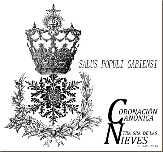 logotipo coronacion canonica nuestra seora de las nieves de gabia la grande 2014 alvaro abril diseo grafico final 2