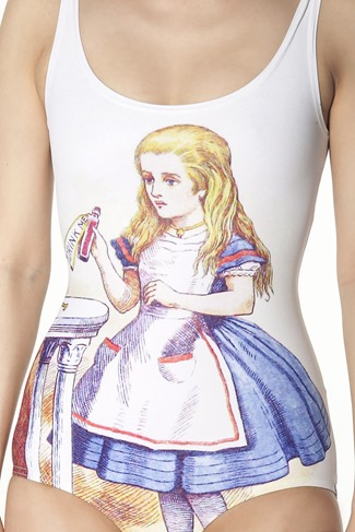 Limited Edition Alice in Wonderland Swimsuit from Black Milk Clothing