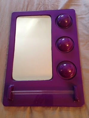 Poly Plex purple storage bar and mirror front