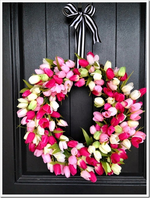 spring tulip wreath 8