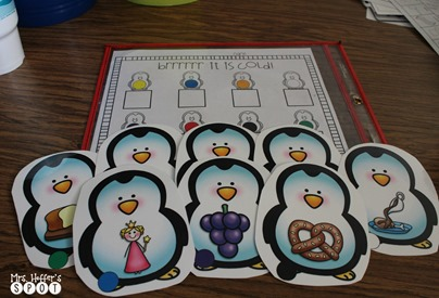 Getting ready to do penguins next week and I can't wait to get these bad boys out for my kiddos. We introduced r blends last week, so we are practicing them during center time.