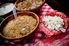 Granola and yogurt-covered raisins were some of the trail mix options.