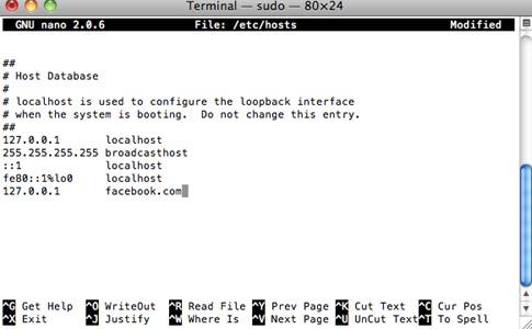 Bloquear una página web desde Mac