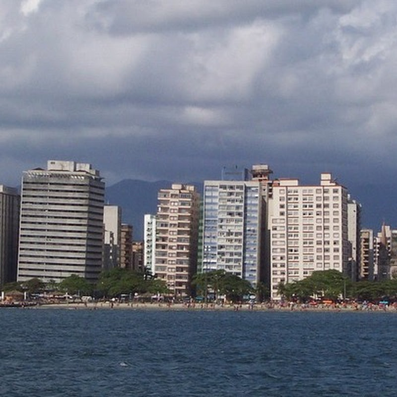 The Leaning Buildings of Santos, Brazil