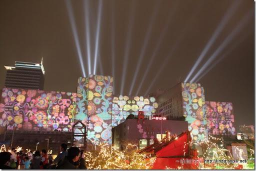 2010台北燈節(台北燈會)-市政府投射圖樣