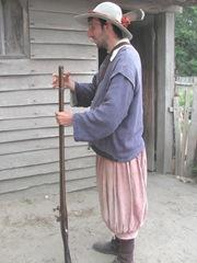 Plimoth Plantation 8.30.2-13 pilgrom man w gun