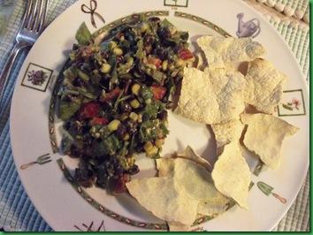 Black Bean salad with avacado lime dressing 003