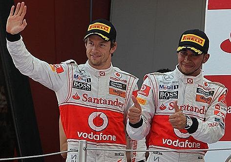 Jenson Button Lewis Hamiliton Vodafone McLaren Mercedes
