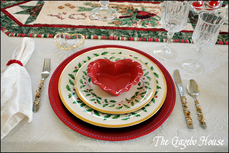 Valentines Day dinner table 013