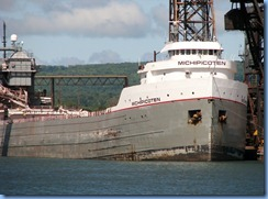 5014 Michigan - Sault Sainte Marie, MI -  St Marys River - Soo Locks Boat Tours -  the lake freighter Michipicoten at Algoma Steel Company, Sault Sainte Marie Canada
