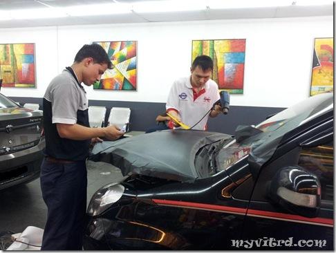 install sticker carbon fiber 8