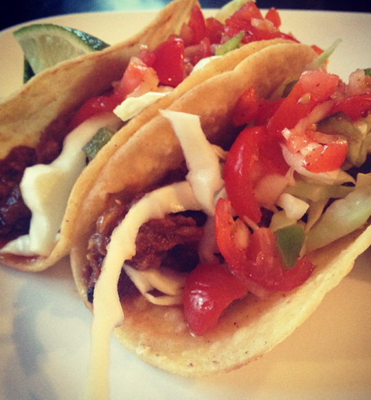 Slow Cooker Steak Carnitas Tacos