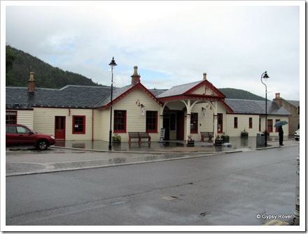 Ballater railway station restored as a museum in 2001.