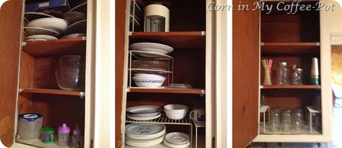 3 Upper Dish Cupboards
