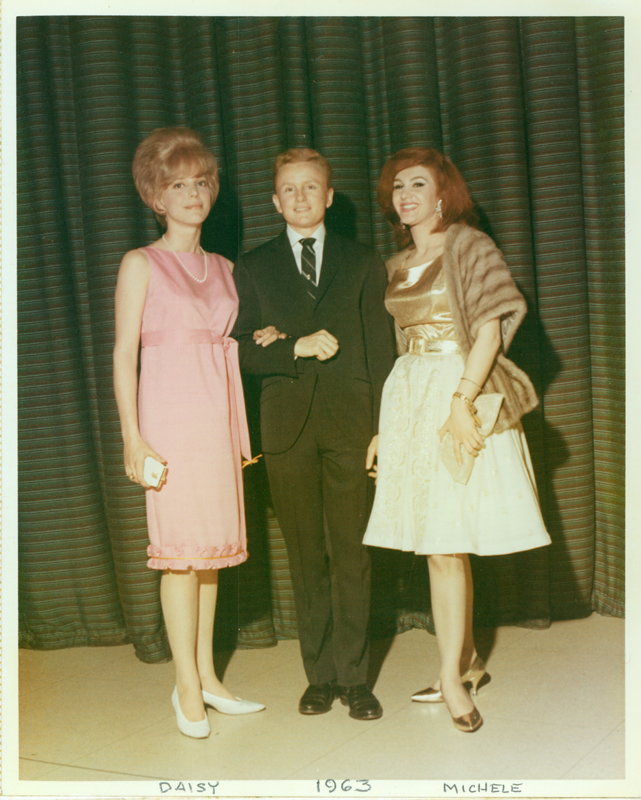 Reed Erickson with Daisy Erickson and Michele. 1963.