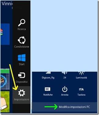 Windows 8 Impostazioni Modifica impostazioni del PC