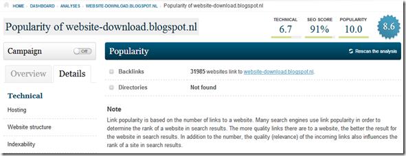 popularitas blog aggregate backlink