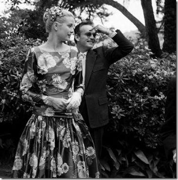 Grace Kelly Black Print Dress 2