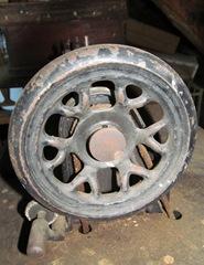 old singer sewing machine wheel