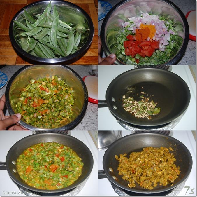 Avarakkai curry process