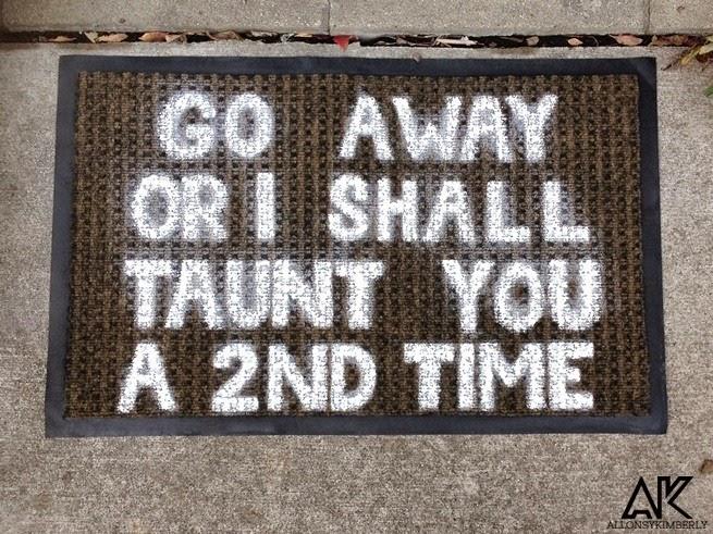 DIY: Monty Python Doormat | allonsykimberly.com