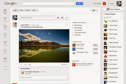 Google plus interface hero