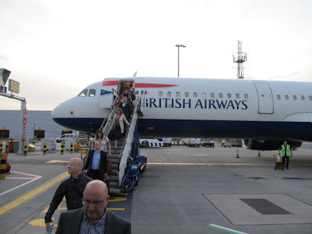 Debarcare pe Heathrow - cursa British Airways Bucuresti - Londra