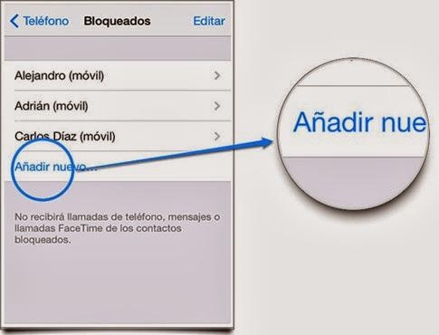 Cómo bloquear contactos en iOS 7