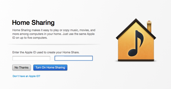Mac itunes home sharing 12 26 2013