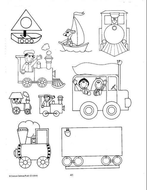 Recursos para el aula de infantil: Medios de transportes para imprimir