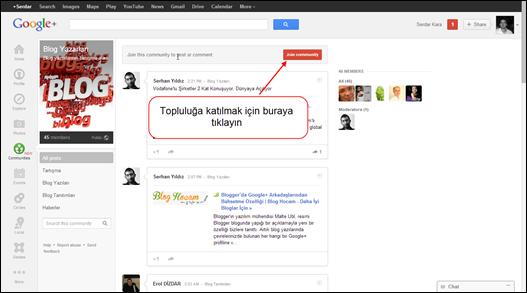 Google+ Topluluğa Katılma